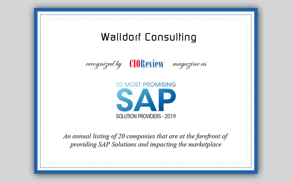 Walldorf Consulting unter den 20 besten SAP-Solution-Providern